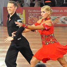 Sara and Evgueni dancing photo