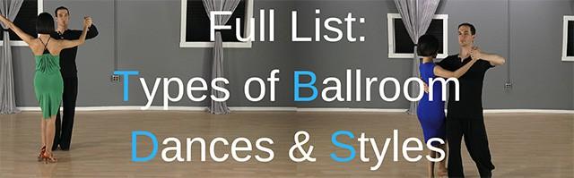 Types of Ballroom dances