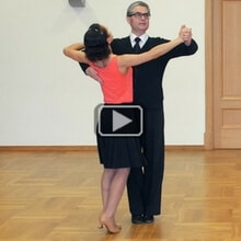 Waltz chasse from promenade position International Style