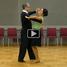 Tango Open Reverse Turn, Lady Inline