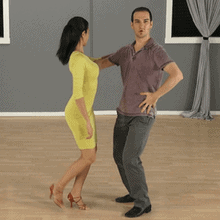 Bachata basic turning left